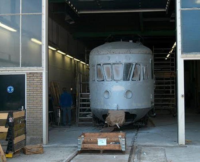 Museumtrein bij gemeentelijk re-integratiebedrijf tROM.