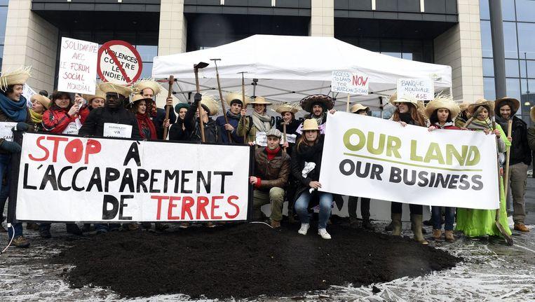 Ook in ons land krijgt de Wereldbank kritiek. Landbouwers hielden er vorige week nog een actie. Beeld PHOTO_NEWS