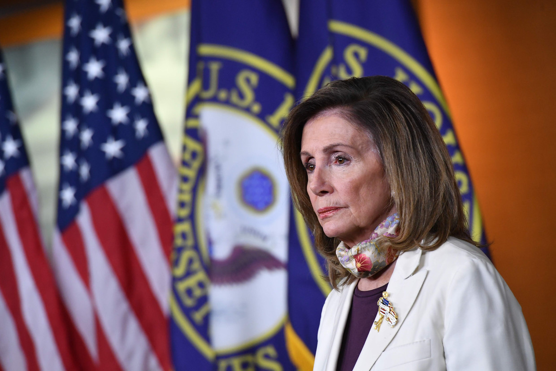 Nancy Pelosi in augustus 2020. Beeld AFP