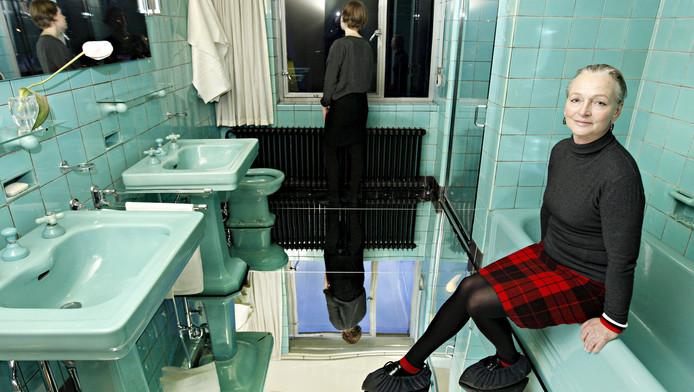 Kunstenares Petra Blaisse heeft museumwoning Huis Sonneveld voorzien van spiegelvloeren.