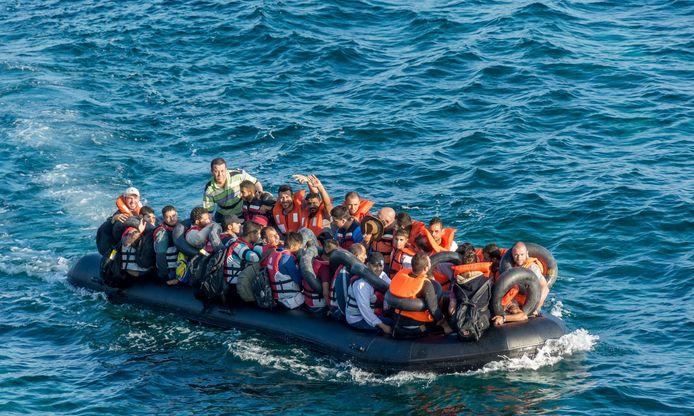 Vluchtelingen op de Middellandse Zee