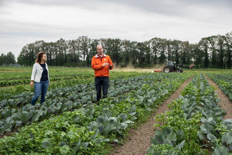 Boudewijn Tooren en Mia Spruit op de Herenboerderij in Boxtel. Beeld Roos Pierson