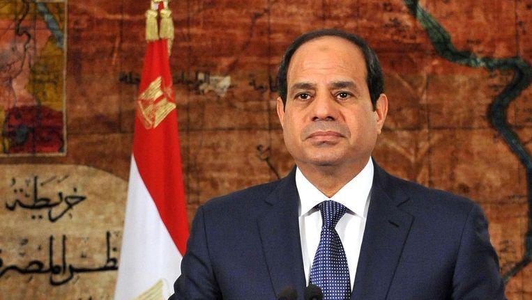 De Egyptische president Abdel Fattah al-Sisi heeft al herhaaldelijk gewaarschuwd voor het toenemende geweld aan de grens. Beeld afp