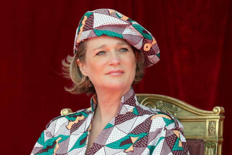 Prinses Delphine voor het eerst aanwezig bij Belgische nationale feestdag. Beeld Hollandse Hoogte / EPA