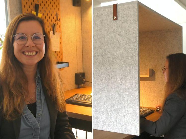 Fiona toverde haar keuken om tot kantoor
