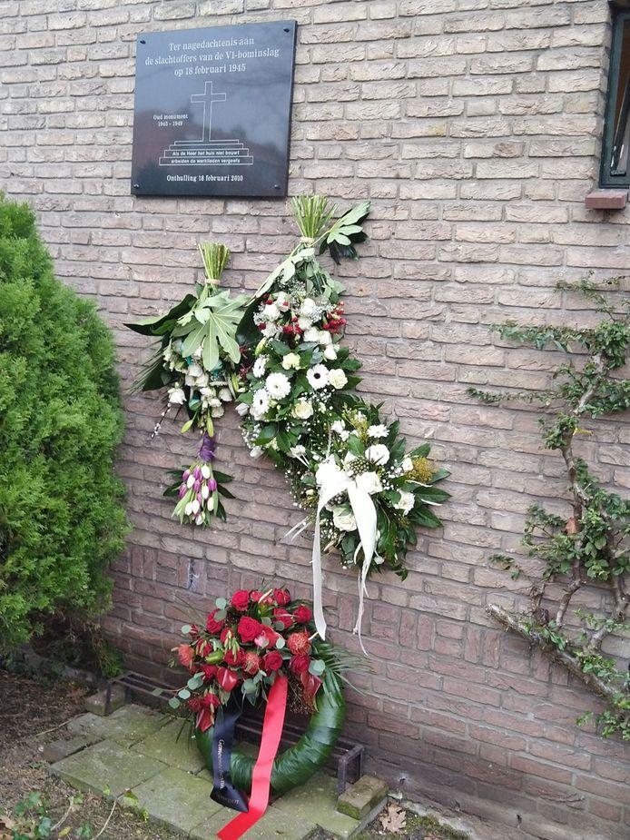Herdenking inslag V1 bom Waterkwartier Nijmegen.