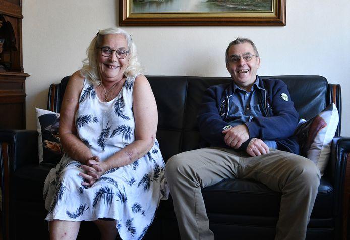 Gerda Derksen en Bennie Arends besloten na een lang huwelijk toch te scheiden. ,,Daar moet je geen ruzie over maken.''