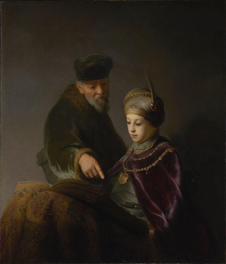 Rembrandt van Rijn, portret van Rupert van de Palts met zijn leraar als Eli en Samuël (1629-1630). Beeld The J. Paul Getty Museum