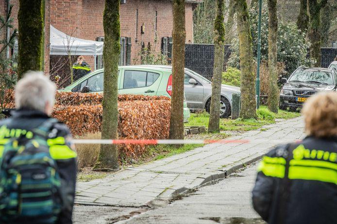 De Vredeoordlaan in Leersum werd op 25 februari opgeschrikt door een schietincident waarbij een dode viel.