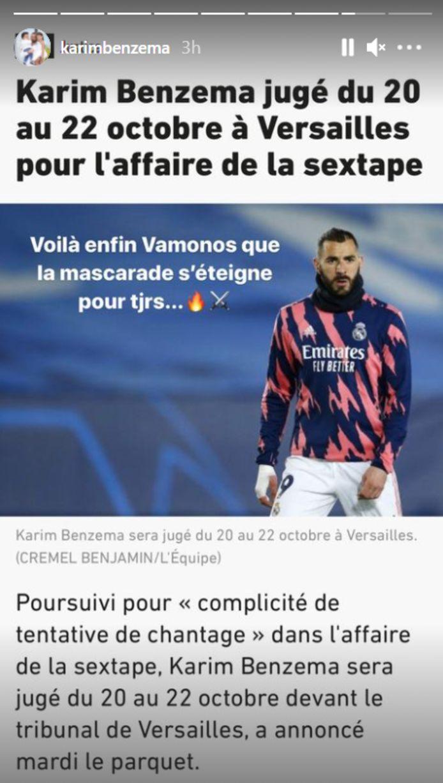 Instagram Karim Benzema
