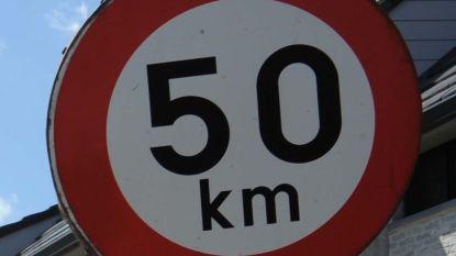 50km/u ingesteld in aantal straten