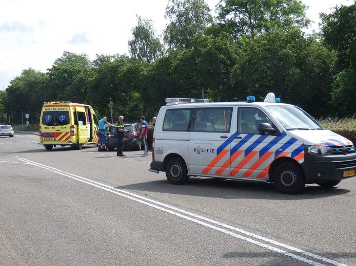 Door het ongeluk was de weg ook even dicht.