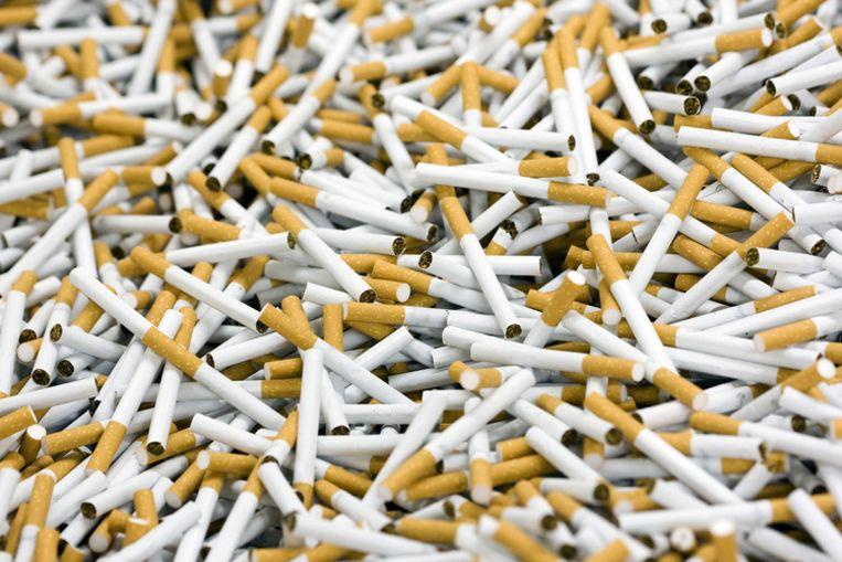 Opsporingsdiensten hebben vorig jaar 10,7 miljoen pakjes illegale sigaretten onderschept, waarmee voor 32 miljoen euro aan accijns en btw werd ontdoken. Foto ANP/Lex van Lieshout Beeld