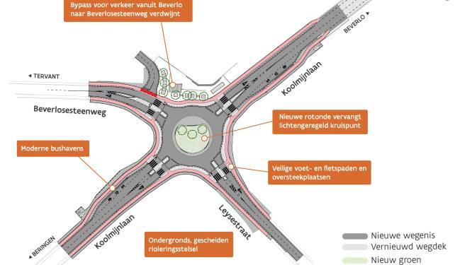 Leegstaande panden op hoek Leysestraat worden afgebroken ter voorbereiding van aanleg rotonde