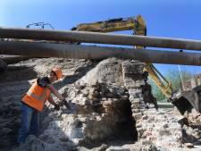 Oude muur gevonden in gemaal De Neust in Tricht