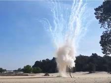 Engelse handgranaat uit Tweede Wereldoorlog tot ontploffing gebracht in Loonse en Drunense duinen