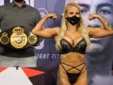 Une boxeuse australienne se pèse en lingerie sexy avant son combat pour le titre mondial