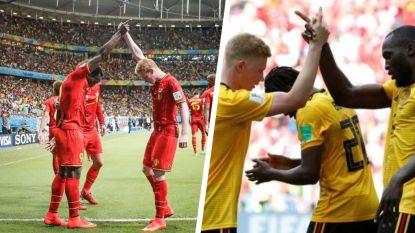 Vier jaar na België - Verenigde Staten en die iconische foto vieren De Bruyne en Lukaku Duivelse WK-goal op zelfde wijze