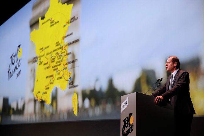 De presentatie van de Tour de France.