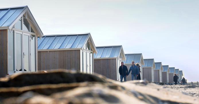 Strandhuisjes in Kijkduin.