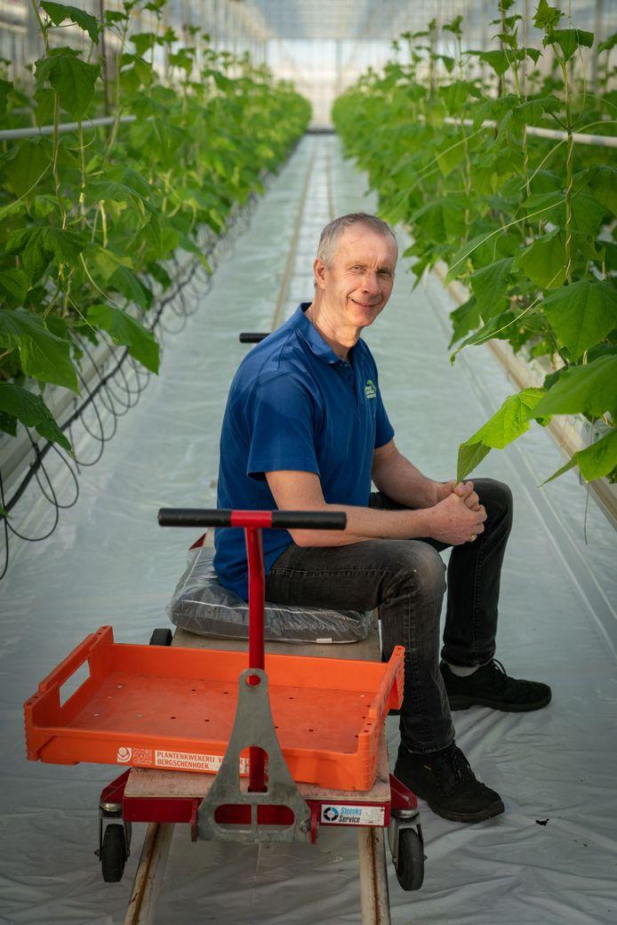 """Komkommerteler Albert Kosdi. ,,Inmiddels hebben mijn vrouw ik 30.000 vierkante meter aan kassen."""""""