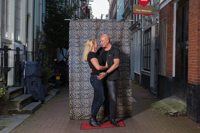 Helene Baayen (50) met haar partner Jan Tromp (50).