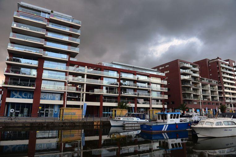 Aan de Vaartkom in Leuven werden de voorbije jaren veel appartementen gebouwd en dat had een gunstige evolutie op de hoge prijzen.