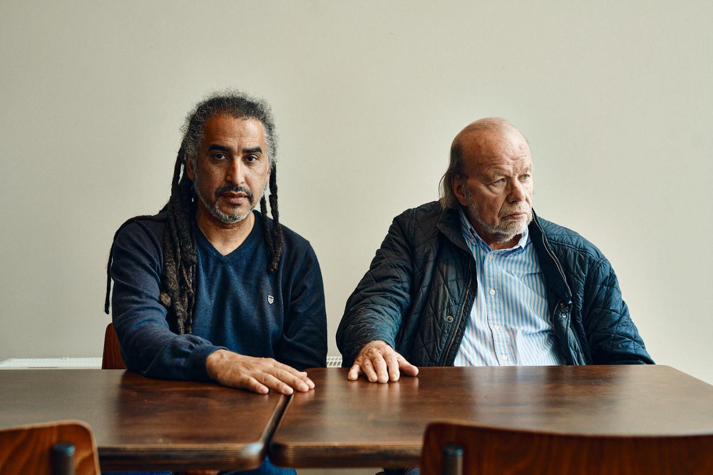 Chokri Ben Chikha en Hugo Camps. 'Wat Hugo en ik met elkaar gemeen hebben: we maken het onszelf niet graag gemakkelijk.' Beeld Thomas Nolf