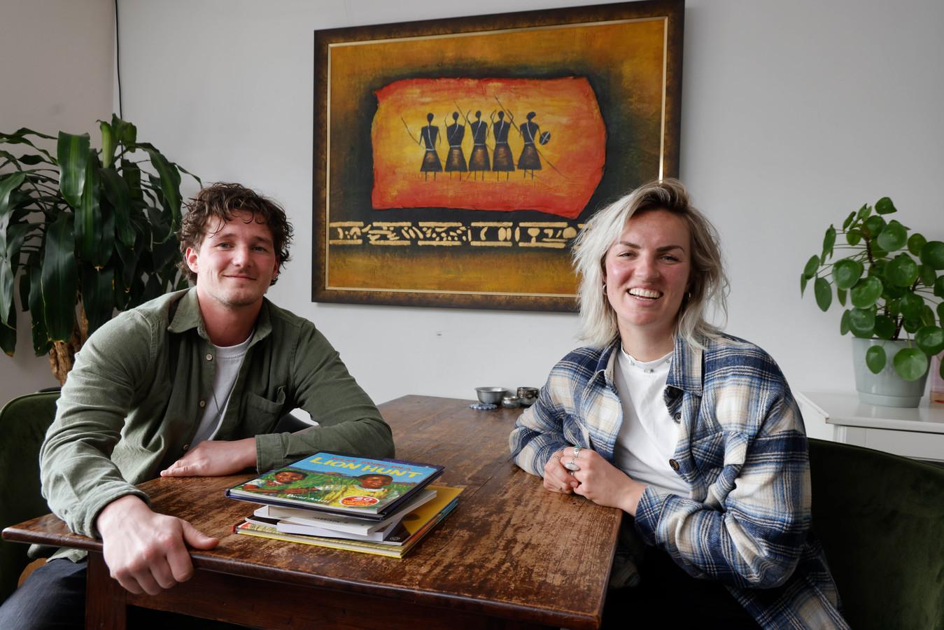 Marlijn Ankoné en Niels de Bont verhuizen deze zomer vol idealisme naar Botswana. Daar gaan ze een onderwijsproject leiden voor kansarme kinderen.. Nijmegen, 19-4-2021 . GV