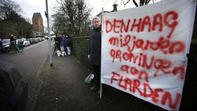 Actievoerders tegen de gasboringen.