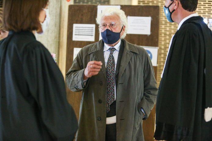 Bo Coolsaet (81) bij de behandeling van zijn zaak in het Hof van Beroep.