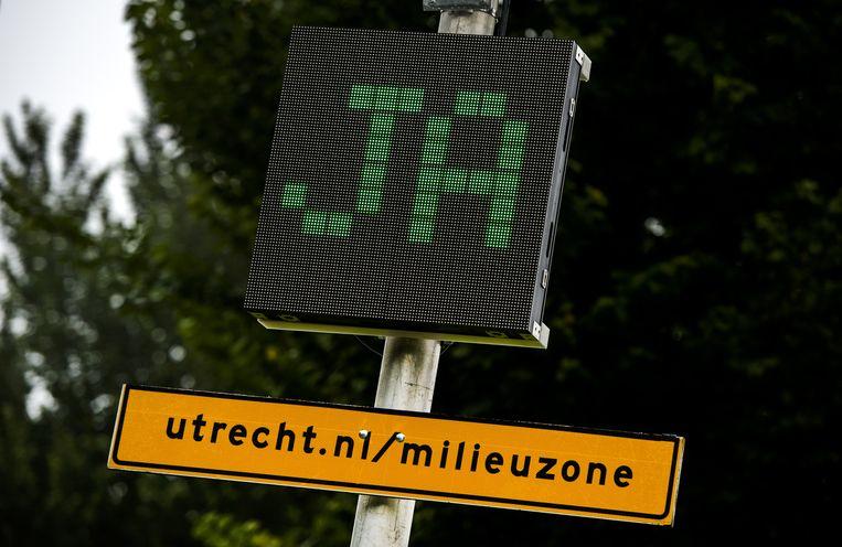In 2014 werd een in de Utrechtse binnenstad een milieuzone ingevoerd. Beeld anp