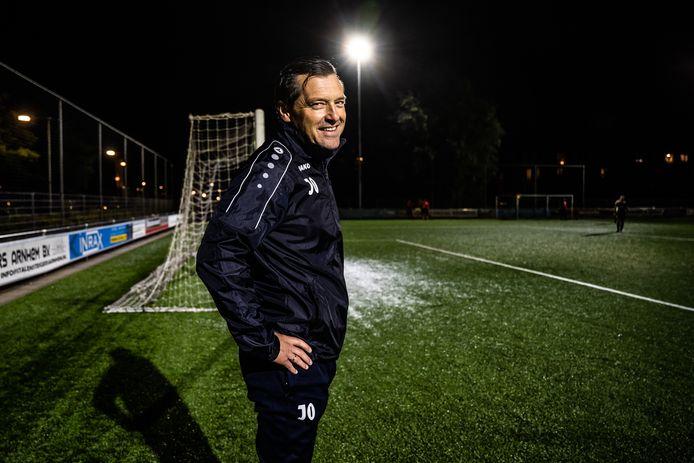 Trainer Jan Oosterhuis van MASV. Arnhem