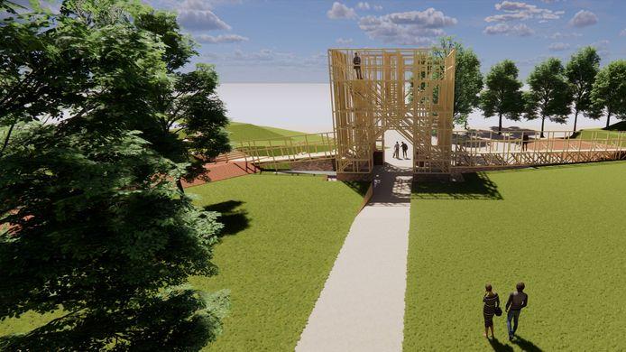 De RCE gaat akkoord als de loopbruggen aan beide kanten van de houten toren worden geschrapt. Stichting Noordpoort vindt dat Briele dan haar eigen Venus van Milo krijgt.