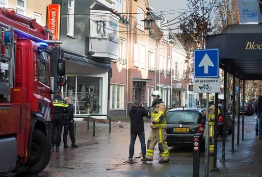 De situatie in Terborg kort na de explosie.