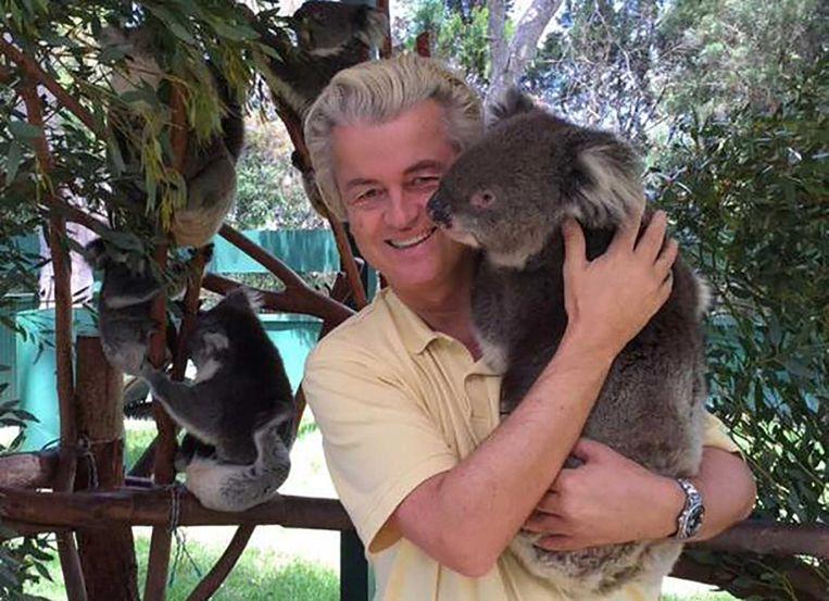 De koalafoto van Geert Wilders. Beeld Geert Wilders