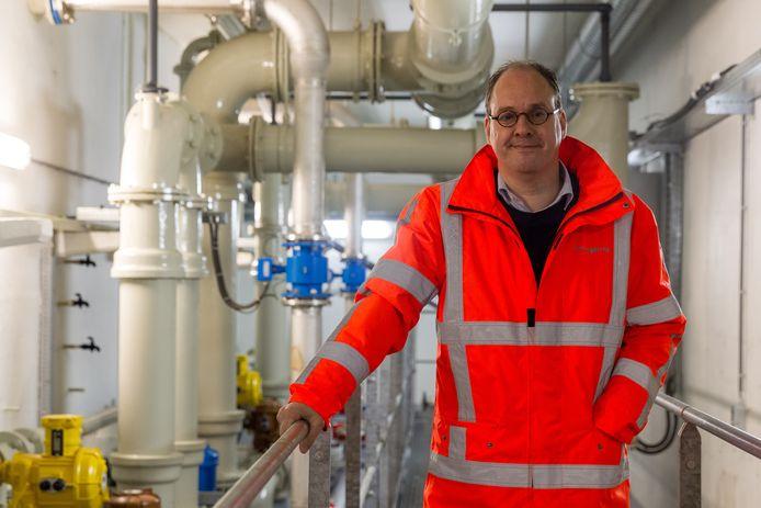 Rob van Dongen, de nieuwe directeur van Brabant Water, in het waterwinstation in Vessem.