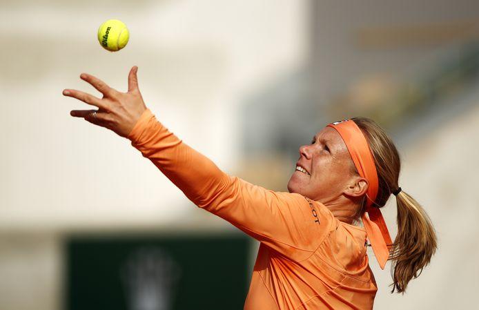 Kiki Bertens op Roland Garros.