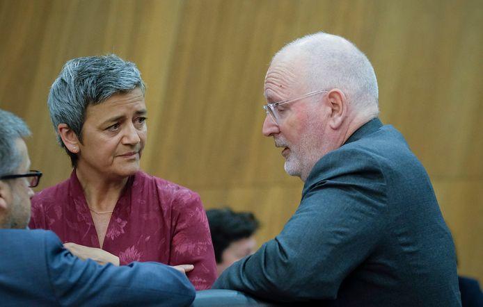 Margrethe Vestager en Frans Timmermans blijven de belangrijkste vicevoorzitters van de Commissie.