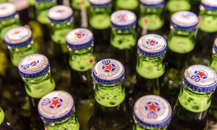 Flesjes Heineken 0.0. Het alcoholvrije bier is een grote hit