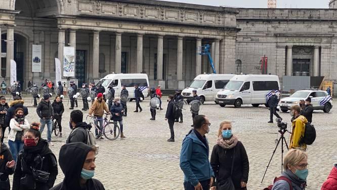 Manifestaties tegen coronamaatregelen: tientallen aanhoudingen en oproerpolitie tegenover 200 betogers in Jubelpark, geen incidenten bij gedoogde actie aan Noordstation