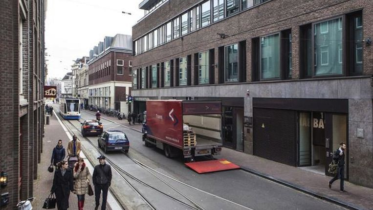 De schietpartij vond plaats in de Amstelstraat Beeld anp