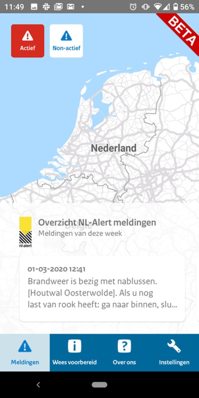De NL-Alert-app