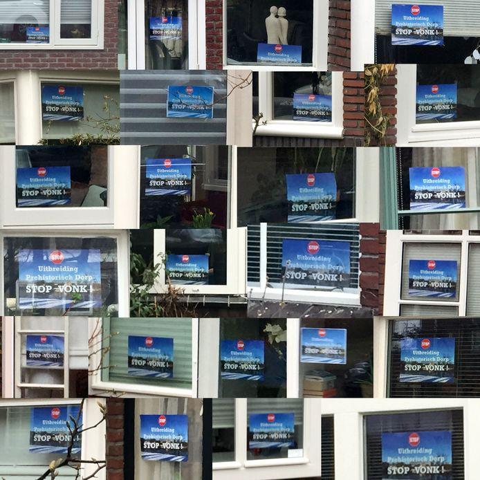 In de straten rondom de Genneper Parken groeit het verzet. Steeds meer bewoners hebben een flyer met 'Stop Vonk' achter het raam hangen.