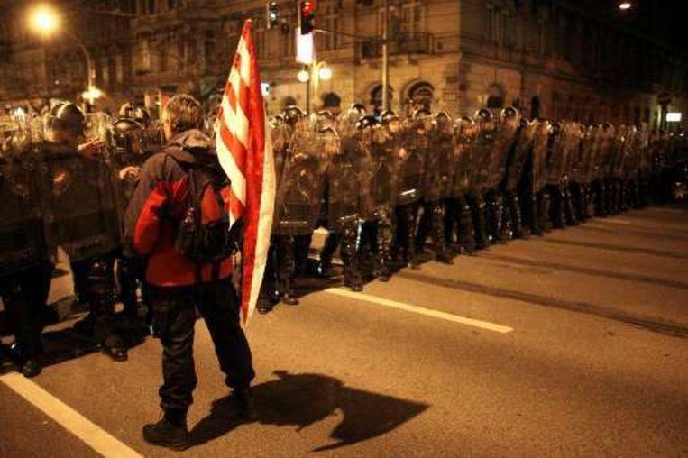 's Avonds liep het door de meest heetgebakerde betogers behoorlijk mis.
