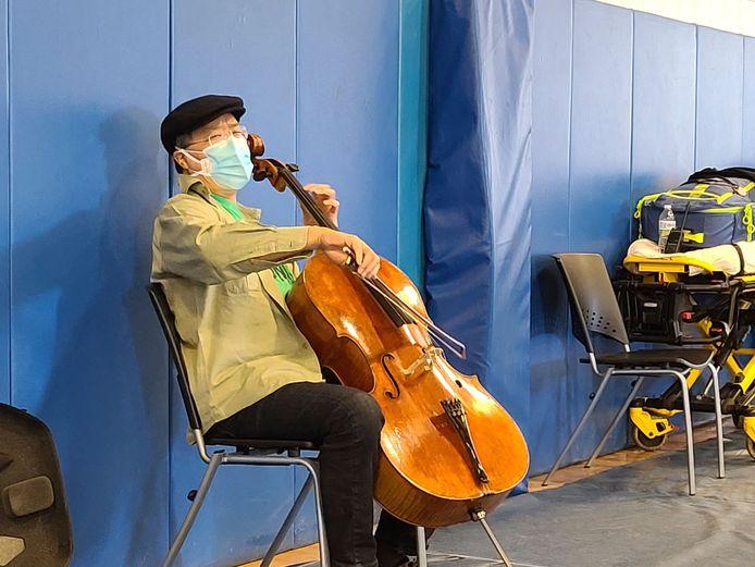 Yo-Yo Ma jouant samedi au Berkshire Community College