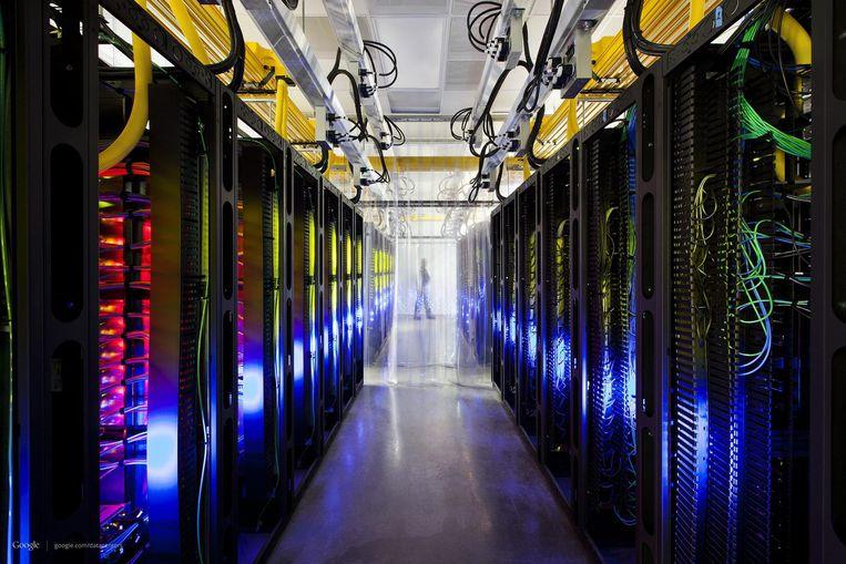 Alle informatie uit de 'cloud' van Google wordt opgeslagen in datacenters rond de hele wereld. Beeld EPA
