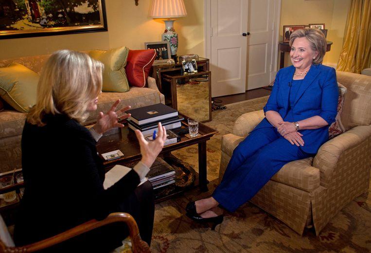Hillary Clinton tijdens het ABC-interview Beeld REUTERS