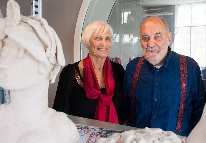 Piet Hohmann met zijn echtgenote Mary.