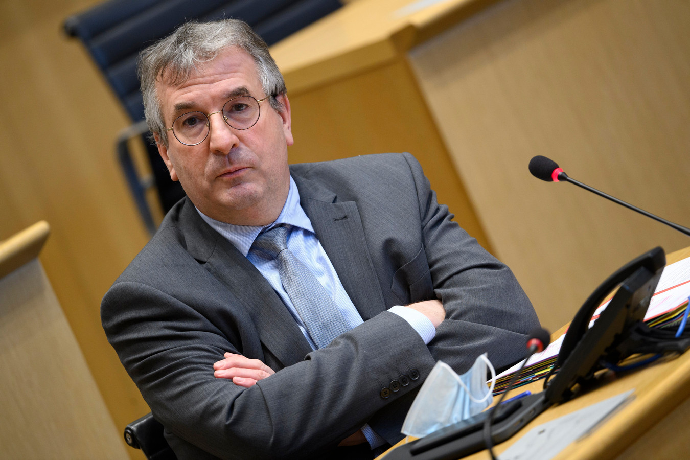 Pierre-Yves Jeholet, président de la Fédération Wallonie-Bruxelles (FWB)